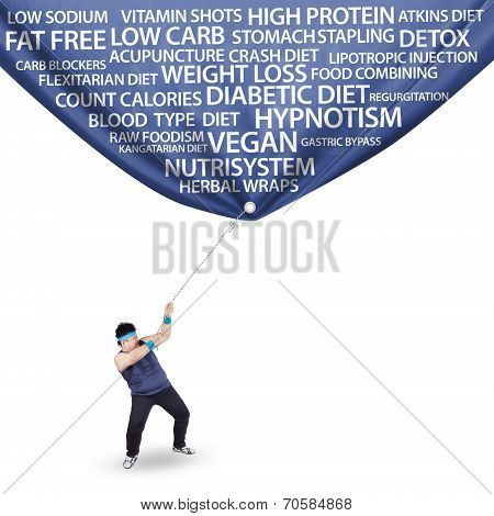 Fat Man And Lost Weight Banner
