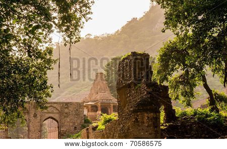 Ancient Temple In Bhangarh India