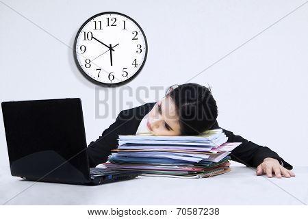 Tired Businesswoman Overworked 1