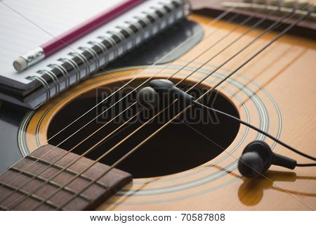 Headphones On Guitar