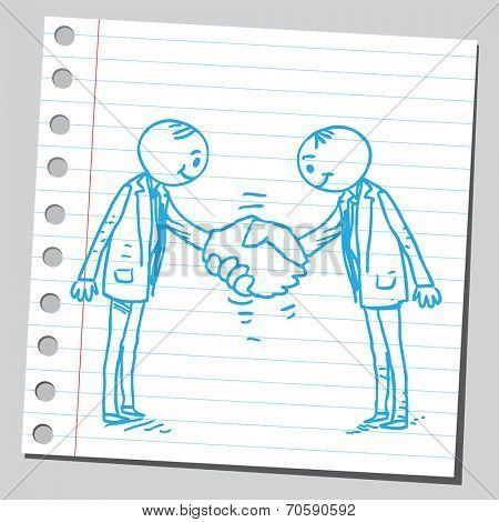 Businessmen agreement