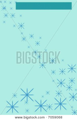 Falling Blue Stars Stationary