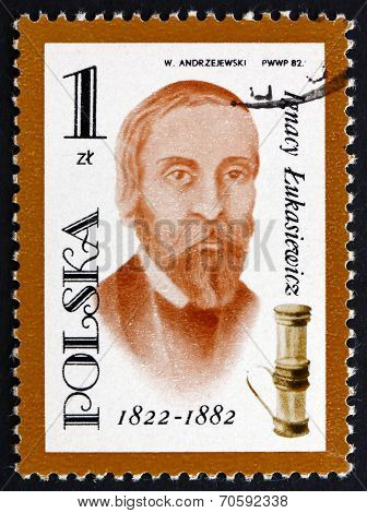 Postage Stamp Poland 1982 Ignacy Lukasiewicz, Oil Lamp Inventor