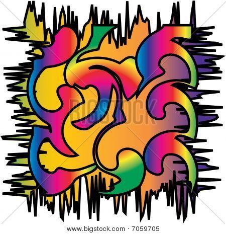 retro psychadelic illustration