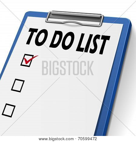 To Do List Clipboard