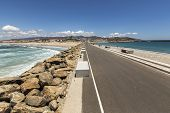 foto of tarifa  - Beach landscape in the city of Tarifa, Spain.