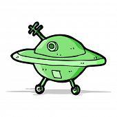 foto of flying saucer  - cartoon flying saucer - JPG