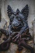picture of gargoyles  - devil figure - JPG