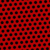 stock photo of hexagon  - Abstract black red technology background - JPG