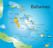 picture of greater  - Bahamas vector color map country - JPG