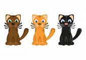 stock photo of tiger cub  - Cartoon funny tiger cats - JPG