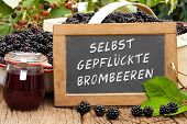 stock photo of self-storage  - Slate blackboard with the Germans words - JPG