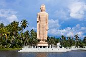stock photo of hamlet  - Peraliya Buddha Statue Tsunami Memorial Sri Lanka - JPG