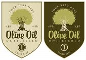 picture of olive trees  - set of labels for olive oil with olive tree - JPG