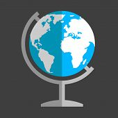 stock photo of globe  - Earth globe flat icon - JPG