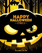 image of jack o lanterns  - Halloween vector illustration  - JPG