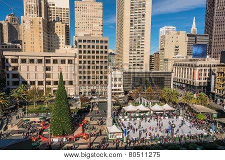 Union Square at Christmas time, San Francisco