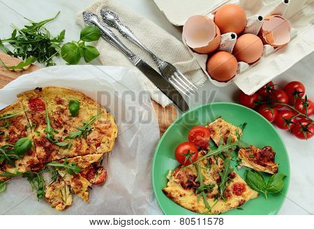 Omelet with vegetable