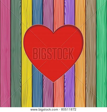 Valentine's greeting card. Vector illustration