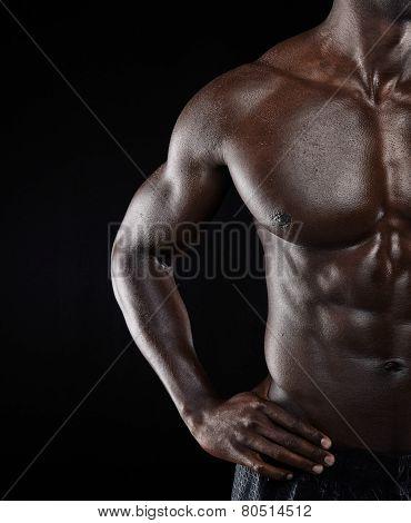 African Muscular Man Body