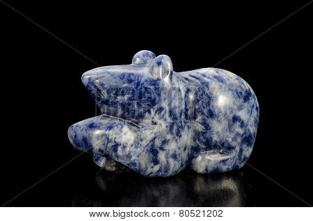 Carved Sodalite Rat