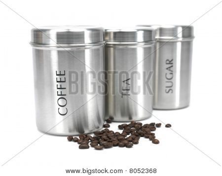 Tea Coffee And Sugar Cannisters