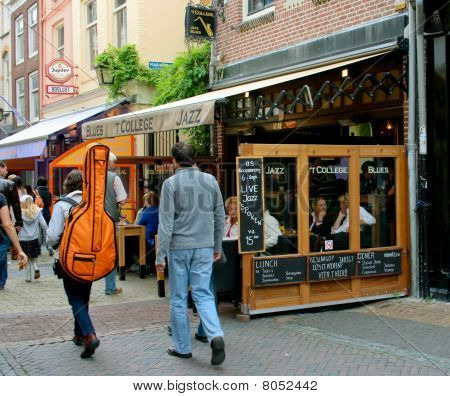 Famous live jazz & blues cafe 'T College in Utrecht