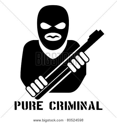 Criminal person logo