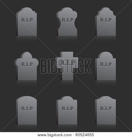 Vector Gravestones with RIP