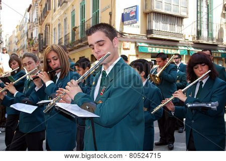 Marching band, Malaga.