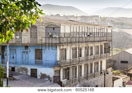 Historical building in Mollendo, Peru