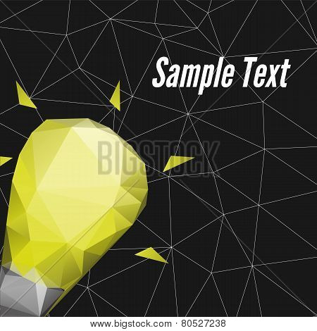 Abstract Triangle Poster Design Vector Template.
