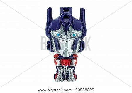 Optimus Prime Toy Character From Transformers Movie Series.