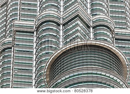 High Quality Close Up View Of  The Petronas Twin Towers.