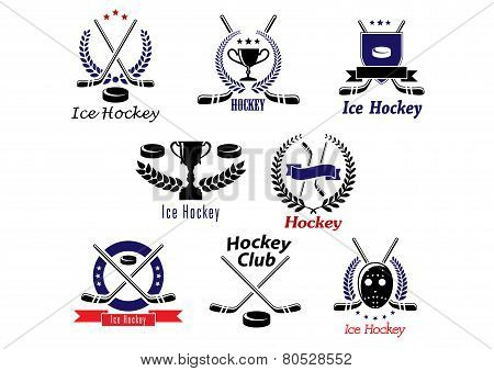 Ice hockey emblems and logo