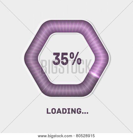 Web preloader. Download bar.