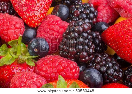 Strawberry Among Mixed Berries