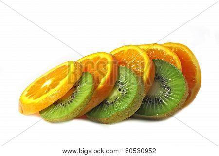 Orange and kiwi.
