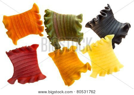Colorful Pieces Of Tasty Pasta.
