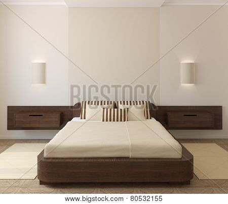 Interior Of Modern Bedroom.