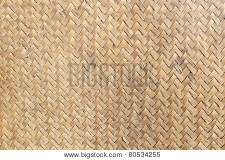 Old Mat Of Sedge Weave Texture Background