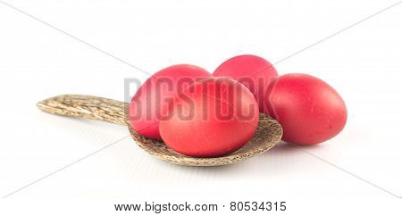 Red Egg On White Background - Infant Fully Month Anniversary
