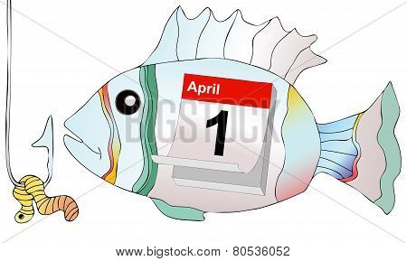 April 1, Do Not Take The Bait As A Fish At Hook
