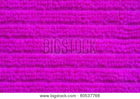 Close up pink towel background
