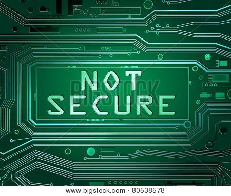 Not Secure Concept.