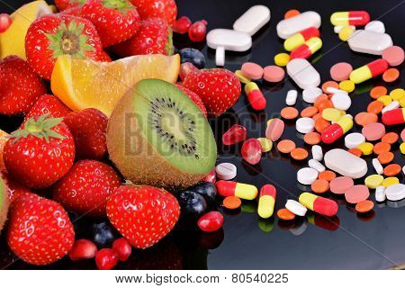 Berries, Fruits, Vitamins And Nutritional Supplements