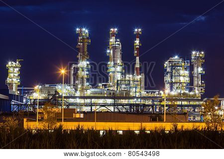 Petrochemical Oil Refinery Plant Shines