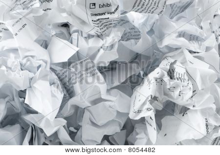 Recycling Concept With Lots Of Waster Paper