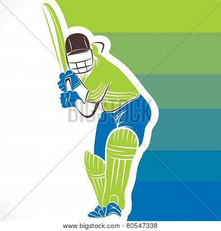 cricket player banner design