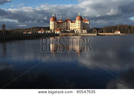 Moritzburg Castle near Dresden, Saxony, Germany.